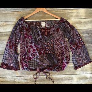 Boho Knox rose blouse top shirt